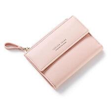 Small Women Zipper Wallet Fashion Lady Short Solid Coin Pocket Purse Clutch Bag