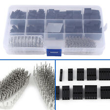 610Pcs 2.54mm Housing Connector Pin Header Male Female Crimp Pins Kit For Dupont