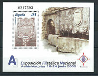 """Espagne Bloc N°83** (MNH) 2000 - Exposition """"Exfilna 2000"""" à Avilés"""