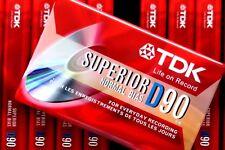 TDK D90 SUPERIOR NORMAL POSITION TYPE I BLANK AUDIO CASSETTE TAPE