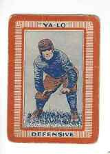1925 Capitol Game Co. YA-LO Football Board Game Defensive Card
