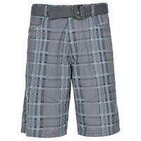 Trespass Penza Mens Cotton Check Lightweight Summer Outdoor Travel Shorts