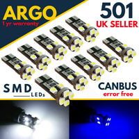 501 T10 W5W CAR LED SIDE LIGHT BULBS XENON HID WHITE 8 SMD CANBUS ERROR FREE 12V