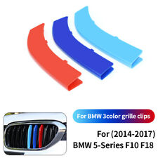Front Grille Grill Cover Strips Clips Trim For BMW 5 Series F10 F18 2014-2017