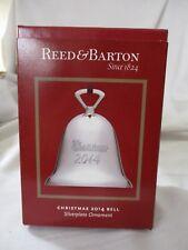 Reed & Barton Christmas 2014 Bell Silverplate Ornament NIB