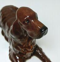 Beswick Irish Setter #1060 Porcelain Dog Figurine Brown Red Vintage (20096)