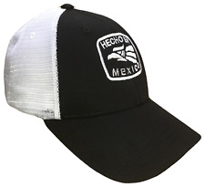Hecho En Mexico Black & White Mid Profile Mesh Golf Trucker Cap Caps Hat Hats