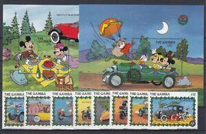 D. Walt Disney  Gambia  935-42 + Block 81/2  Micky Maus   ** (mnh)