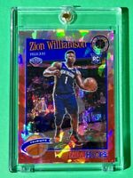 Zion Williamson RED CRACKED ICE PRIZM ROOKIE PREMIUM STOCK 2019-20 NBA HOOPS RC