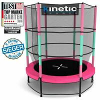 Kinder Trampolin Indoor Outdoor Garten 140cm inkl. Sicherheitsnetz in Pink