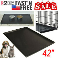 "Pet Dog Crate Replacement Pan Plastic Liner Repl Tray 42"" Floor Cage Kennel TW"
