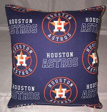 Astros Pillow Houston Astros MLB Pillow Handmade in USA.