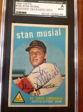 1959 Topps #150  STAN MUSIAL  Autograph SGC Authentic  Hand Signed  NEAR MINT+