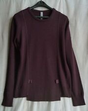 SILENT by DAMIR DOMA Wine Wool-Blend KUNAR Sweater SIZE S