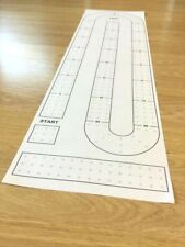 Large Cribbage Board Hole Pattern Paper Template 9'' x 32''