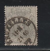 FRANCOBOLLI - 1866 BELGIO LEOPOLDO II C.1 GRIGIO Z/9295