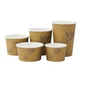 12oz Hot & Cold Biodegradable Bowls/Cup BROWN (115x92x62)  500 pcs