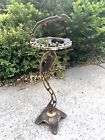 Vintage Art Deco Nude Woman Table Ashtray Stand Bronze Brass Antique 24  Girl