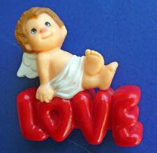 BUY1&GET1@50%~Hallmark MERRY MINIATURES Valentines ❤️CHERUB LOVE Vtg '83 FIGURE