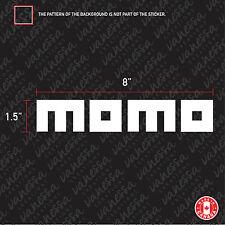 2x MOMO TIRES  sticker vinyl decal white