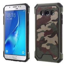 Samsung Galaxy J5 (2016) Trekking Handy Tasche TPU Hybrid Camouflage Cover Grün