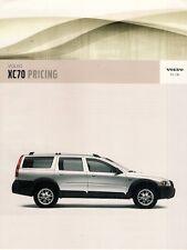 Volvo XC70 Specification 2005-06 UK Market Brochure 2.5T 2.4D D5 SE Lux V70