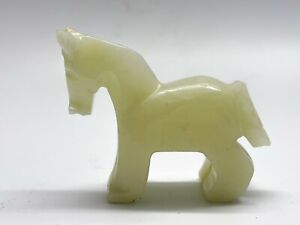 Vintage Onyx Stone Carved Horse Ornament Figurine Model <D6