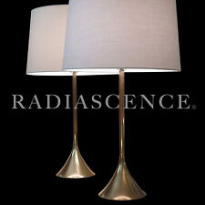 WESTWOOD TONY PAUL ATOMIC MODERN SPACE AGE BRASS TULIP TABLE LAMPS 60s SAARINEN