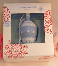 New Wedgwood Blue & White Jaspeware NeoClassical Bauble Christmas Tree Ornament