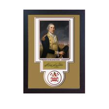 George Washington 1st President USA Autograph print signed photo picture FRAMED