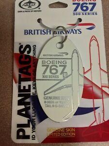 Boeing 767 British Airways G-BNWH Aircraft SkinPlane Tag / Planetags