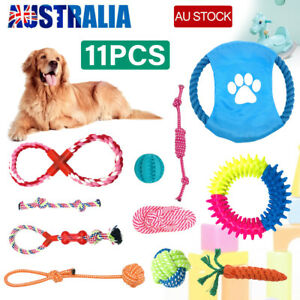 Dog Rope Toys Pet Puppy Chew Braided Tough Toy Gift Durable Cotton Clean Teeth