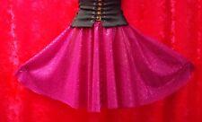 Fuchsia Pink Sequin Full Circle Skater Skirt Dance Fancy Dress Disco Freesize
