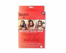 My Spa Life Pellicule Facial Wraps Red Clay Mineral Oxides & Nutrients Set of 3