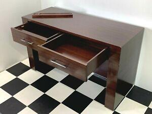 High grade Decca executive walnut office desk two soft close drawers & pen tray