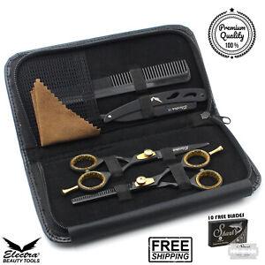 Professional Barber Hair Cutting Thinning Scissors Shears Kit Hairdressing Set !