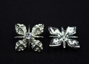925 Silver Wonderful Men's Gothic Polar Star White Cubic Zirconia Collar Tips