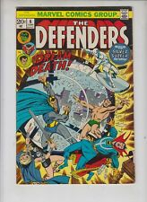 "DEFENDERS #6  Marvel 1972  ""Dreams of Death""  SIULVER SURFER   Buscema     FINE"