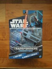 NEW Star Wars TRANSFORMERS CROSSOVERS DARTH VADER 2010 MIP X1 STARFIGHTER HASBRO