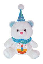 "CUPCAKE Happy Birthday 10"" Teddy Bear Boy Plush Toll Blue White NEW"