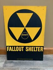 Vintage fallout Capacity shelter sign. 14 X 20