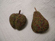 Decorative Apple & Pear, made from dried peas, made in Philippines, excellent