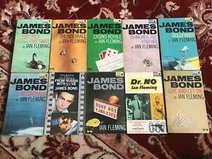 Vintage James Bond Pan Paperback Books x 10 1963