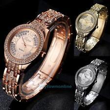 Luxury Lady Women's Crystal Diamond Stainless Steel Quartz Analog Wrist Watch