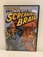 MAN WITH THE SCREAMING BRAIN rare US DVD Bruce Campbell horror sci-fi parody