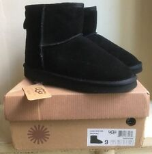 UGG Classic Women's Mini II Leather Ankle-High Suede Boot - Black, 9