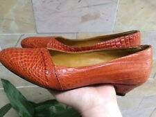 Women's Shoes  Women's  Orange CROCODILE Leather Size US6 to US9 NEW
