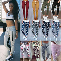 Women Harem Sweatpant Jogger Sport Gym Loose Slouch Pants Floral Slacks Trousers