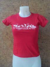 Solde- Tee shirt à  manches courtes fille, TEMPS DANSE -Lio - rouge en 8/10 ans