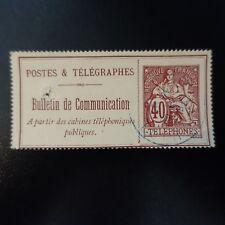 FRANCE TIMBRE TÉLÉPHONE N°26 OBLITÉRÉ CACHET BLEU LOIRE